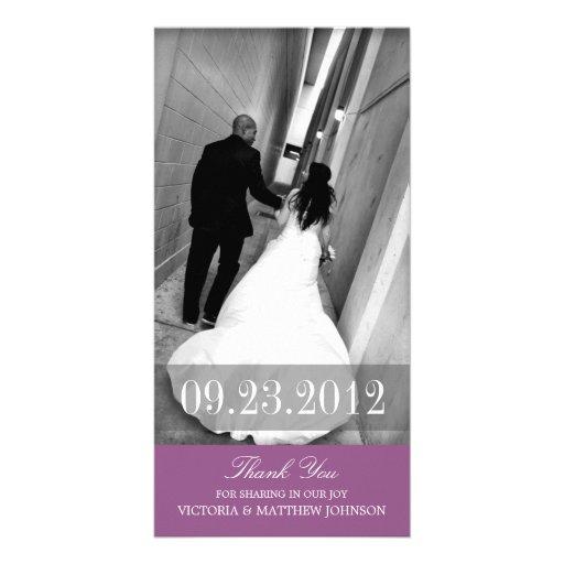 ROMANCE IN PURPLE | WEDDING THANK YOU CARD CUSTOM PHOTO CARD