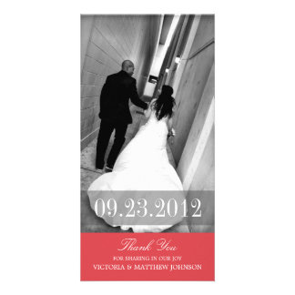 ROMANCE IN RED | WEDDING THANK YOU CARD