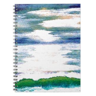 Romance of the Sea - Ocean Art Decor Spiral Note Book
