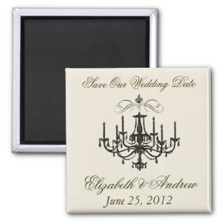Romance with a Chandelier ~ Save the Date Love Fridge Magnets