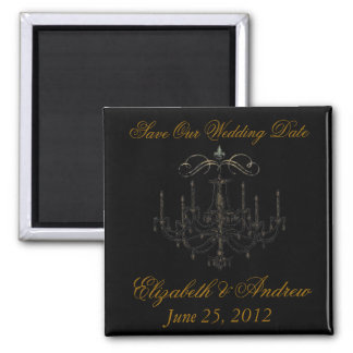 Romance with a Chandelier Save the Date Love Refrigerator Magnets