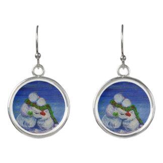 Romancing Snowman Drop Earrings