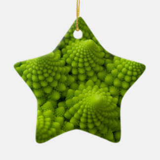 Romanesco Broccoli Fractal Vegetable Christmas Ornament