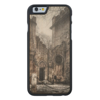 Romanescu castle carved maple iPhone 6 case