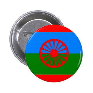 ROMANI FLAG 6 CM ROUND BADGE