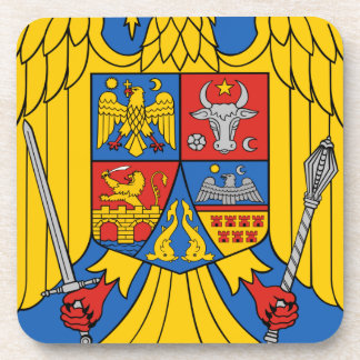 Romania - Coat of Arms. Emblem Coaster