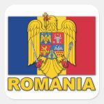 Romania Coat of Arms Flag