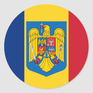 Romania Coat Of Arms, Republic of the Congo Classic Round Sticker