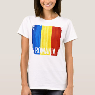 Romania Country Flag Women's fitted T-shirt