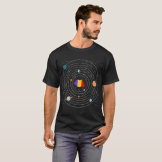Romania Country In Solar System Pride Tshirt