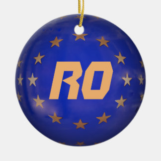 Romania E.U. Christmas Ornament