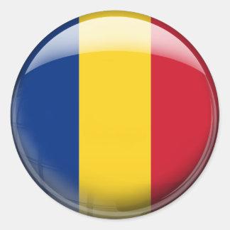 Romania Flag Classic Round Sticker