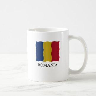 Romania flag coffee mug