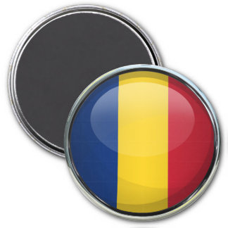 Romania Flag Glass Ball Magnet
