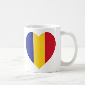 Romania Flag Heart Coffee Mug