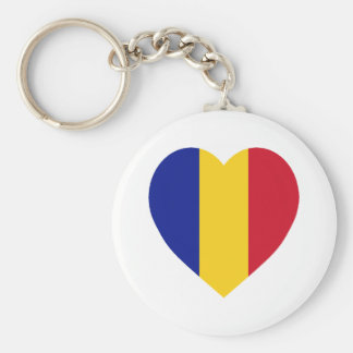 Romania Flag Heart Key Ring