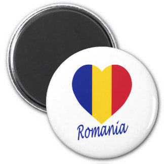 Romania Flag Heart Magnet