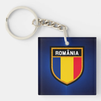 Romania Flag Key Ring