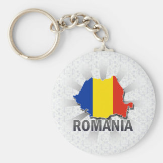 Romania Flag Map 2.0 Key Ring