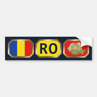 Romania Flag Map Code Bumper Sticker