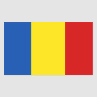Romania Flag Rectangular Sticker
