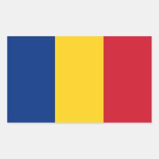 Romania Flag Rectangular Sticker