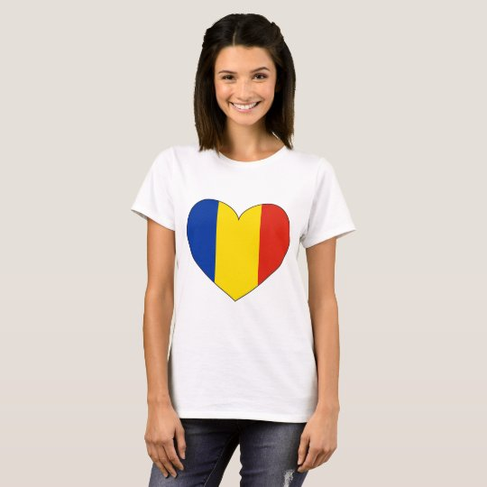 Romania Flag Simple T-Shirt