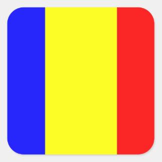 Romania Flag Square Sticker