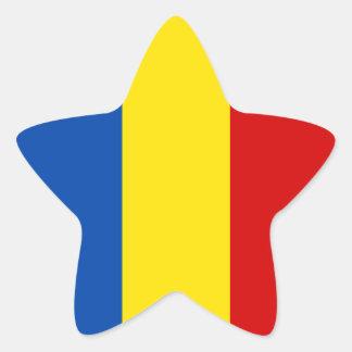 Romania Flag Star Sticker