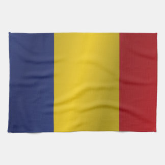 Romania flag tea towel