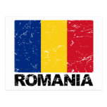 Romania Flag Vintage Postcard