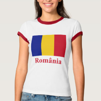 Romania Flag with Name in Romanian T-Shirt