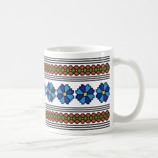 romania folk art motif chicory flower symbol coffee mug