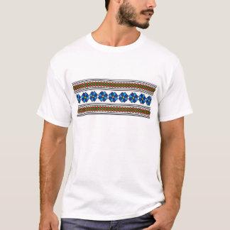 romania folk art motif chicory flower symbol T-Shirt