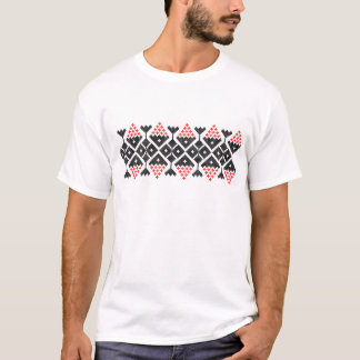 romania folk ethnic dance geometric motif costume T-Shirt
