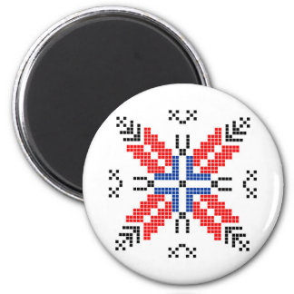 romania folk motif traditional symbol ethnic magnet