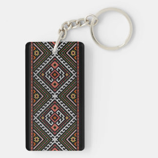 romania folk symbol popular motif costume balcans key ring
