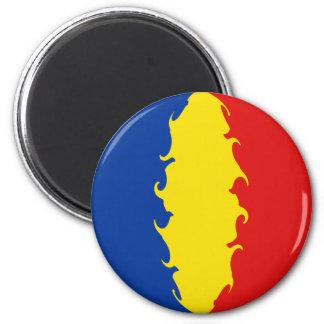 Romania Gnarly Flag 6 Cm Round Magnet