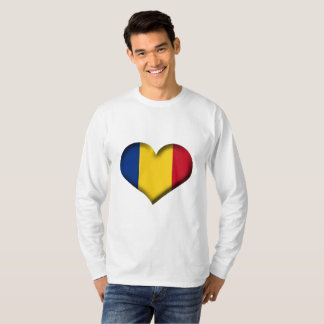 Romania Heart Flag T-Shirt