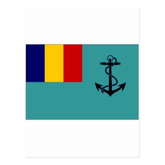 Romania Naval Jack Postcard