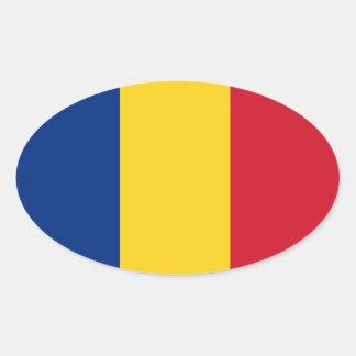 Romania* Oval Flag Sticker  România autocolant