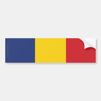 Romania Plain Flag Bumper Sticker