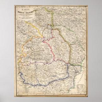 Romania, Poland Print