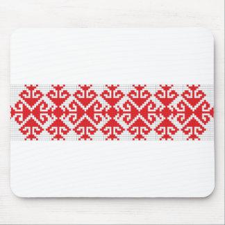 romania popular motifs symbol genuine folk costume mouse pad