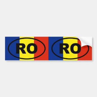 Romania RO European oval Bumper Sticker