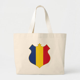 Romania-shield.png Large Tote Bag