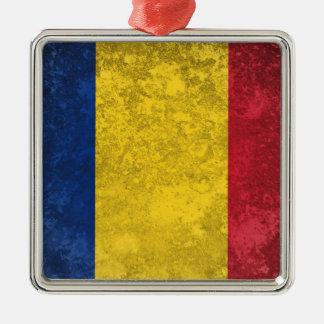 Romania Silver-Colored Square Decoration