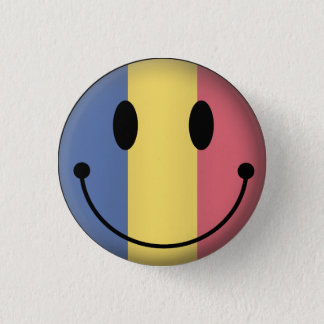 Romania Smiley 3 Cm Round Badge