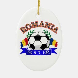 Romania soccer ball designs christmas ornament