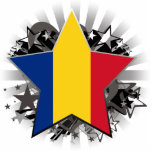 Romania Star Cut Out